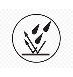 Waterproof icon water and rain liquid resistant vector