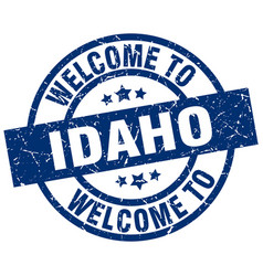 Welcome to idaho blue stamp vector