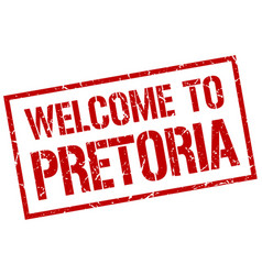 welcome to pretoria stamp vector image vector image