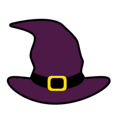 witch hat isolated icon vector image