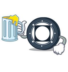 With juice byteball bytes coin mascot cartoon vector
