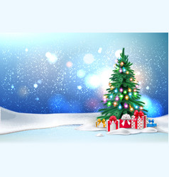 year holiday poster banner vector image