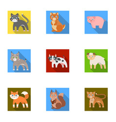 zoo toys hunting and other web icon in flat vector image