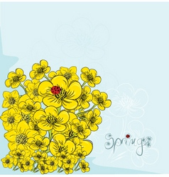 artistic spring vector image vector image