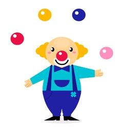 cartoon clown character vector image vector image