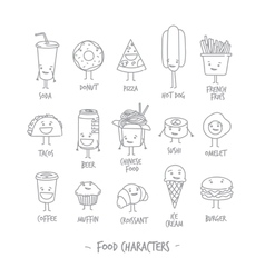 Food characters vector image