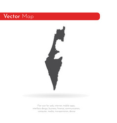 map israel isolated black on vector image