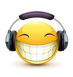 musical emoticon vector image