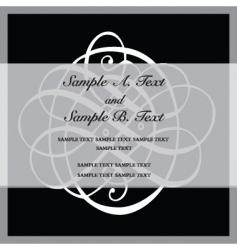 ornate black frame vector image vector image