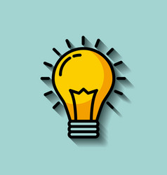 regular lightbulb idea concept image vector image