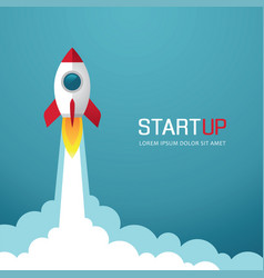 rocket start up vector image
