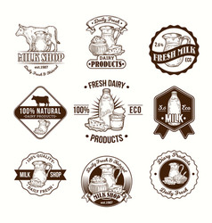 set of badges stickers vector image