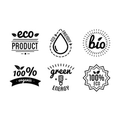 Set of labels and elements for green vector image