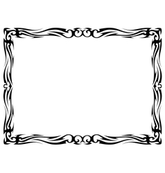 tattoo ornamental decorative frame vector image vector image