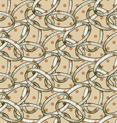 Abstract rings with polka dot vector