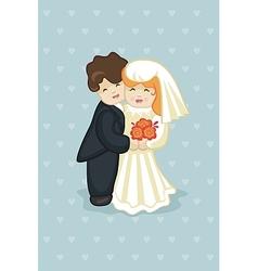 Cake Newlyweds vector image