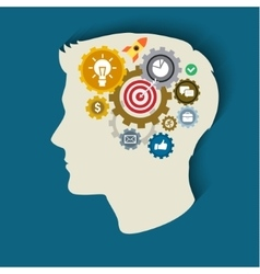 Concept of thinking vector image