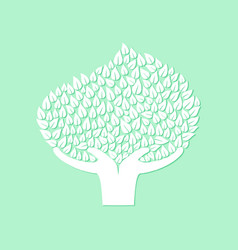 hand tree concept for nature care vector image vector image