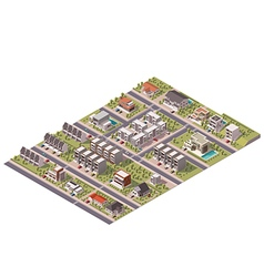 isometric suburb map vector image vector image