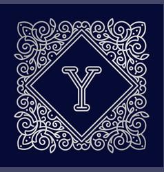 monogram y bage logo text vector image