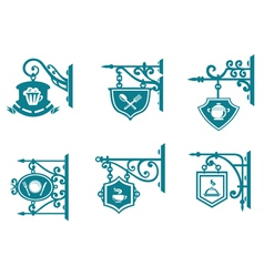 Tavern and pubs signs with decorations vector image