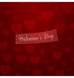 Valentines day realistic ribbon template vector
