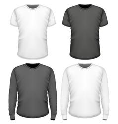 Men t-shirt short and long sleeve vector