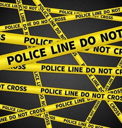 Police line vector image