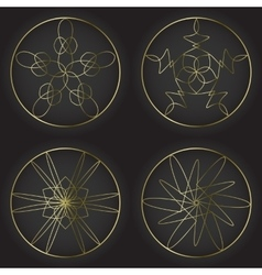 Round decorative frames set Collection of circle vector image
