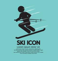 Ski Icon vector image vector image
