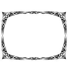 tattoo ornamental decorative frame vector image vector image