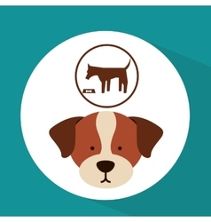 veterinary dog care food icon vector image