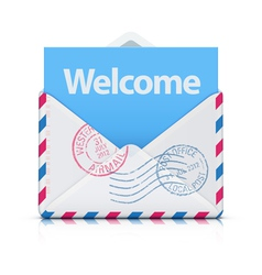 Welcome concept vector image vector image