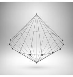 Wireframe mesh polygonal cone vector image vector image