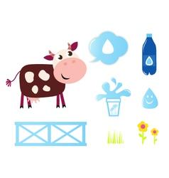 cow milk vector image vector image