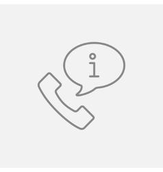 Customer service line icon vector image