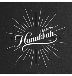 Happy Hanukkah vector image