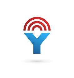 Letter y wireless logo icon design template vector
