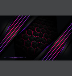 3d black modern background with purple lines vector
