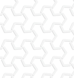 3D white abstract tetrapod grid vector
