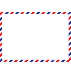 Airmail envelope frame international vintage vector