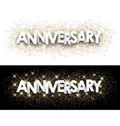 Anniversary paper banner vector