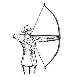 Archery vintage vector