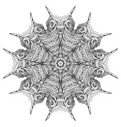 Black and white zenmandala vector
