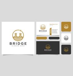 bridge architecture and constructions logo design vector image