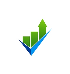 Business finance chart check list logo vector