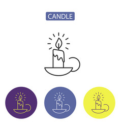 candle line icon vector image