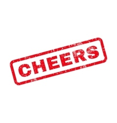 Cheers Text Rubber Stamp vector