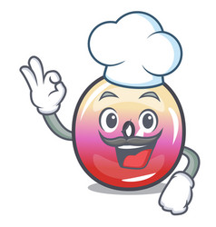 chef jelly ring candy character cartoon vector image