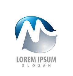 circle m letter logo concept design symbol vector image